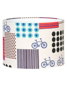 Color, fun print and #bicycle - a unique Lamp Shade  #decor