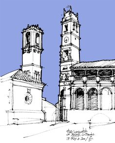 Urban Sketchers Argentina Cityscape, Ink Art, Urban Sketchers, Perspective Sketch, Watercolor Architecture, Sketch Design, City Drawing, Landscape Drawings, Travel Sketches