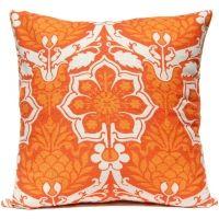 Pineapple Damask - Orange Pillow