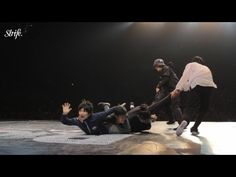 "This is One Crazy Breakdance Routine {3 person ""hook"" is really cool}"