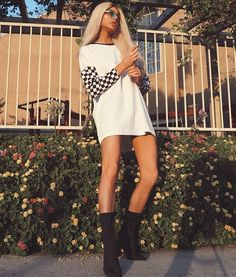 Super T-shirt Dress Outfit For School Ideas 15 Dresses, Dress Outfits, Girls Dresses, Cute Outfits, Fashion Outfits, Fashion Ideas, Shirt Hair, Shirt Dress, Sassy