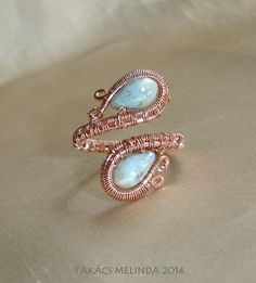 two drops wire wrapped ring_b