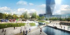 SYNWHA Consortium Wins Competition to Design Waterfront Park for Busan North Port,Urban Canal. Image Courtesy of SYNWHA Consulting