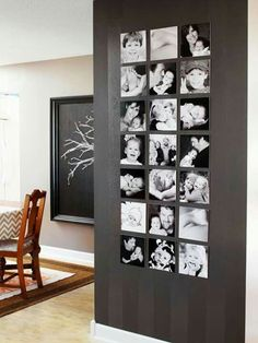 Gallery wall in black and white