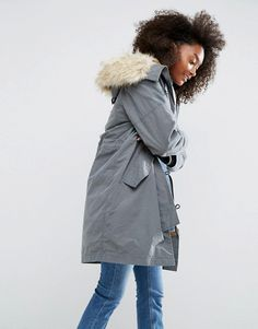 ASOS | ASOS Parka with MA1 Styling and Removable Fur Liner