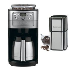 Cuisinart 12 Cup Grind Brew Coffeemaker Brushed Chrome Cuisinart Grind Central Coffee Grinder Refurbished * Details can be found by clicking on the image. (This is an affiliate link) Espresso Machine Reviews, Coffee Maker Reviews, Best Espresso Machine, Best Drip Coffee Maker, Coffee Canister, Coffee Store, Canisters, Cool Kitchens, Brewing
