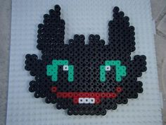 HTTYD Toothless hama beads by Atelier Mumu