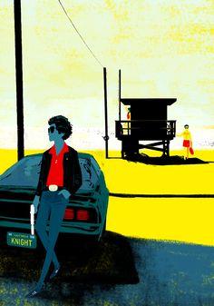 Knight Rider. Alternative versions by Oriol Vidal