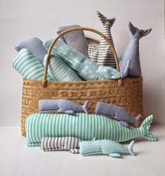 Cherry Garden Dolls: Whales party in my studio! #whale #nautical #toy #baby #nursery
