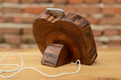 Wood iPhone 6 Stand Wooden iPhone Docking Station by WoodRestart