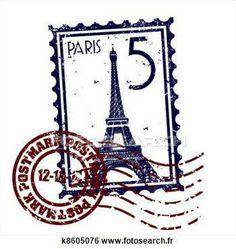 Paris stamp or postmark style grunge. Vector illustration of stamp or postmark s , Paris Tattoo, Vintage Stamps, Vintage Labels, Tour Eiffel, Deco France, Image Paris, Art Carte, Free Art Prints, Thinking Day