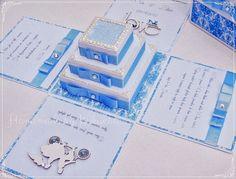 Wedding exploding box with cake