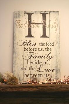 """This is a large pallet sign that is available in two different sizes - 18"""" x 26"""" or 24"""" x 36"""". The background is painted Ivory. Initial is Burnt Umber. Family name is Tan. Lettering is Burnt Umber. I will handpaint, sand for a distressed/shabby chic/vintage look and seal the piece. The back is left unfinished and comes ready to hang."""