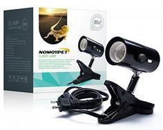 NOMOYPET Clamp Lamp Fixture For Reptiles, Adjustable Habitat Lighting and Heat #NOMOYPET
