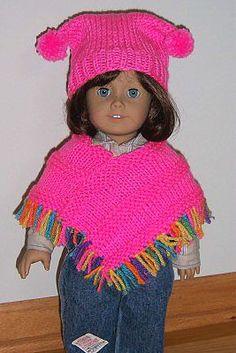 American Girl Doll Poncho Knitting Pattern