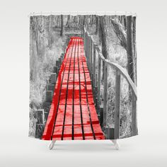 The Bridge Shower Curtain by Angelika Kimmig - $68.00