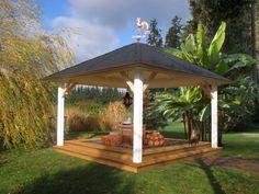 Gartenpavillon selber bauen | Gartenideen | Pinterest | Selber ...