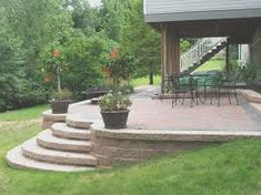 Image result for unique cement patio