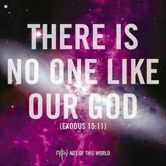 """Exodus 15:11- Exodus 15:11, 26 NLT  """"Who is like you among the gods, O  lord — glorious in holiness, awesome in splendor, performing great wonders?  JESUS IS LORD!!!"""