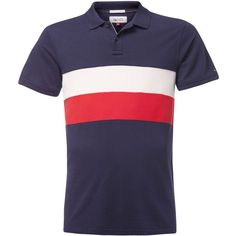 Tommy Hilfiger Track Polo Top (180 BRL) ❤ liked on Polyvore featuring men's fashion, men's clothing, men's shirts, men's polos, tommy hilfiger mens shirts, mens polo shirts, mens striped polo shirts, men's cotton polo shirts and mens striped shirt