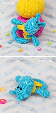 Mesmerizing Crochet an Amigurumi Rabbit Ideas. Lovely Crochet an Amigurumi Rabbit Ideas. Crochet Hippo, Crochet Baby Toys, Crochet Patterns Amigurumi, Crochet Gifts, Cute Crochet, Crochet For Kids, Crochet Dolls, Crochet Baby Blanket Beginner, Easy Crochet Projects
