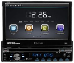 Planetaudio 7 in. Single-Din Motorized Touchscreen DVD Player with Bluetooth Fm Radio Receiver, Boss Audio, Car Audio Systems, Bluetooth Remote, Audio In, Car Videos, Usb, Mp3 Player, Dvd Players
