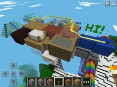 """One of my Minecraft houses on Creative, Pocket Edition!"""