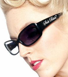 Sick Bitch women's Kat frame sunglasses with Sick Bitch printed on both arms
