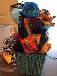 Candy bouquet for my daughter after her amazing performance at the dance recital