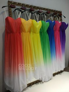 A-Line Floor Length Chiffon Ombre Dress Cute Wedding Ideas, Perfect Wedding, Our Wedding, Dream Wedding, Wedding Gowns, Wedding Menu, Modest Wedding, Wedding Vintage, Summer Wedding