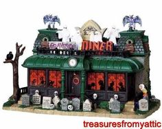 Lemax Spooky Town GRAVESIDE DINER #95805 NRFB Halloween Lighted w/ Sound