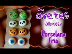 Aretes para halloween PORCELANA FRIA tutorial fácil - YouTube