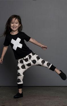 Huxbaby Rolling Bears Drop Crotch Pants - A Little Bit of Cheek Little Girl Fashion, Toddler Fashion, Kids Fashion, Baby Boutique Online, Style Hipster, Kids Outfits, Cute Outfits, Drop Crotch Pants, Lookbook