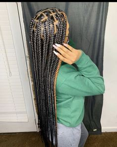 Box Braids Hairstyles For Black Women, Braids Hairstyles Pictures, Twist Braid Hairstyles, Dope Hairstyles, Black Girl Braids, African Braids Hairstyles, Braids For Black Hair, Weave Hairstyles, Hairstyle Ideas