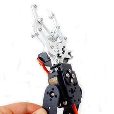 Hello Maker 2 DOF Aluminium Robot Arm Clamp Claw Mount Kit with Servos Diy Robot, Robot Arm, Clamp, Arms, Kit, Arm, Weapons