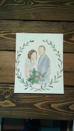 I do! Custom faceless watercolor wedding portrait!! 8x10. Lacy Llama Crafts!