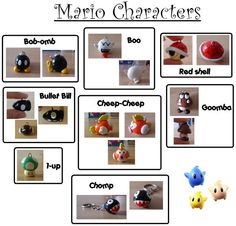 Sculpey Mario Characters by Stardust405.deviantart.com