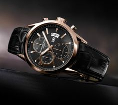 The Swiss watch brand is going to start selling its new Raymond Weil Freelancer Pink Gold Date Chronograph (ref. Taking into account the Dream Watches, Luxury Watches, Cool Watches, Movado Mens Watches, Swiss Watch Brands, Raymond Weil, Watches Photography, Beautiful Watches, Pink And Gold