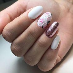 Какая нежность🌺 nailsoftheday.com #маникюрдня #ногти #гельлак #дизайнногтей #идеидляманикюра #мастерманикюра #nailмастер #gelpolish #nails #маникюр #нежныйманикюр #цветокнаногтях #розананогтях