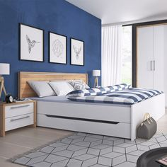 Southwold Storage Bed Metro Lane Size: European Super King x 200 cm) Double Bed With Storage, Bed Frame With Storage, Upholstered Bed Frame, Upholstered Ottoman, Super King Bed Frame, King Storage Bed, Superking Bed, Ottoman Bed, Home Decor Trends