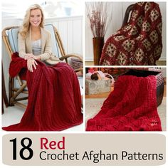 18 Red Crochet Afghan Patterns