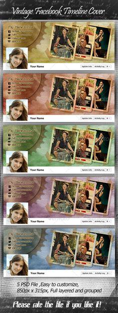 Vintage Facebook Timeline Cover — Photoshop PSD #photos #fans • Download here → https://graphicriver.net/item/vintage-facebook-timeline-cover/3012262?ref=pxcr