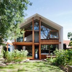 Gabled extension by BKK Architects borrows the form of a doll's house in the Melbourne suburb of Northcote.