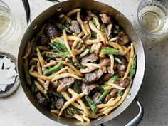 Homemade Pasta with Asparagus and Mushrooms