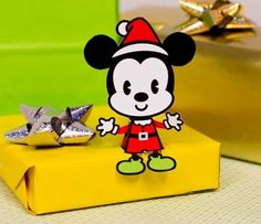Christmas Time - Mickey Mouse Santa Claus Cutie Paper Toy - by Disney Family - == - With his Santa hat and red suit, Mickey's ready to spread holiday cheer.