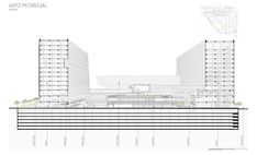 Sordo Madaleno Arquitectos designed ARTZ Pedregal, a mixed-use complex that promises to be a new icon in the heart of southern Mexico City Mexico City, Skyscraper, Multi Story Building, Drawings, Projects, Ideas, Buildings, Log Projects, Skyscrapers