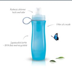 Brita water bottle with a filter!