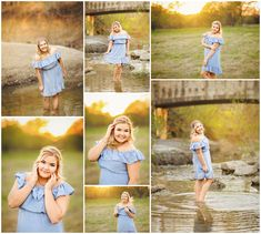 Abigail | Senior 2017 | Northwest High School  senior, pictures, portraits, photos, photography, spring, blue, dress, sunset, golden hour, creek, poses, posing, girls, high school, fort worth, texas, tx www.kyleeswisherphotography.com