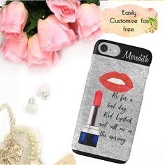 Makeup iPhone Case Lipstick Phone Case Fashion Phone Wallet