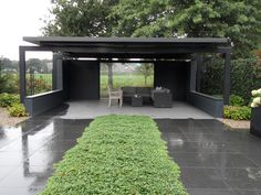 Overkapping tuin - Exclusieve tuin. www.hendrikshoveniers.nl